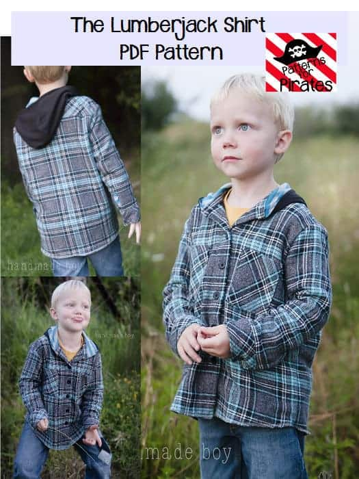 The Lumberjack Shirt sewing pattern from Patterns for Pirates