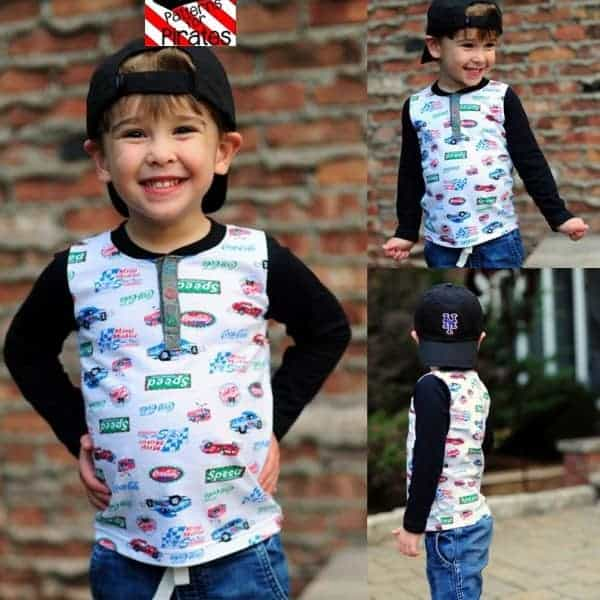 Yo Ho Henley shirt sewing pattern for babies and toddlers from Patterns for Pirates
