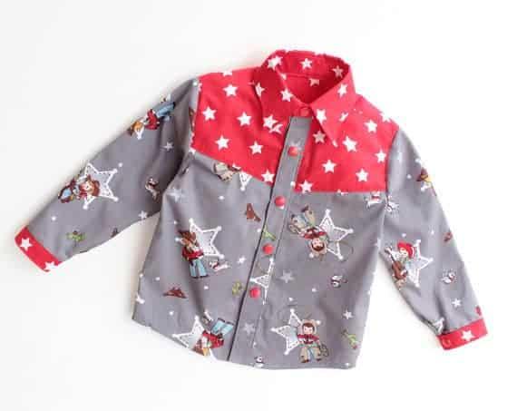Yoke Shirt sewing pattern from Puperita