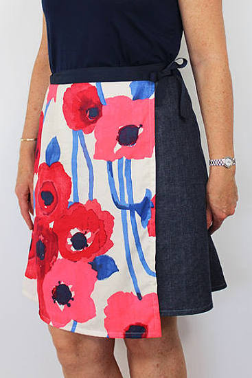 Ruby wrap skirt sewing pattern from Daydream patterns - perfect first sewing project for adults