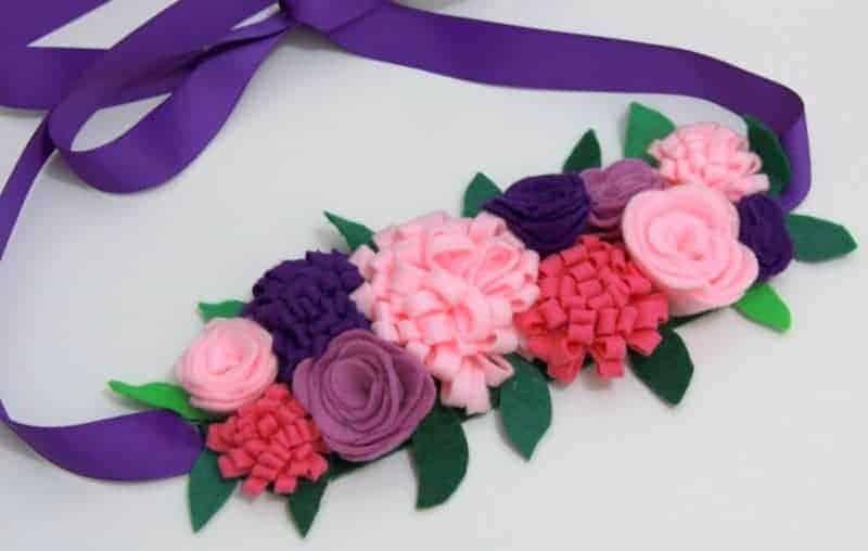 Beautiful DIY Felt Fairy crown sewing pattern for girls
