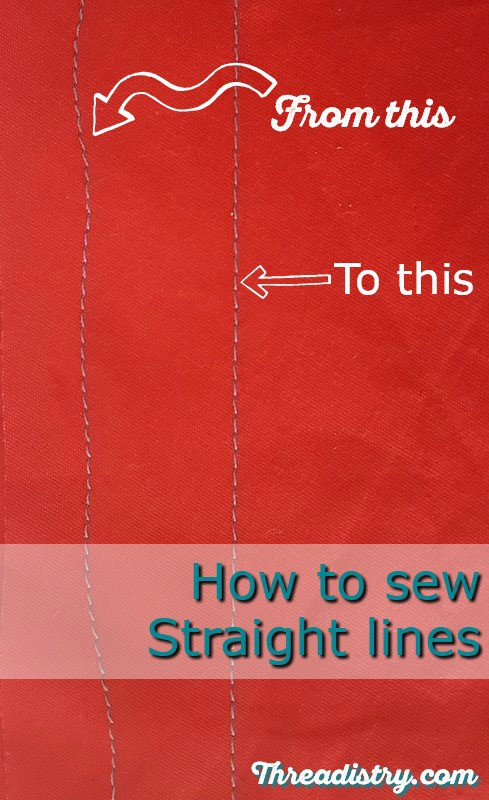 Sewing straight lines on fabric is so much harder than I thought. Here are some great products and tips for how to sew straight line. With this tutorial, now my stitches are perfect when sewing and machine quilting. #sewing #quilting #sewingtips