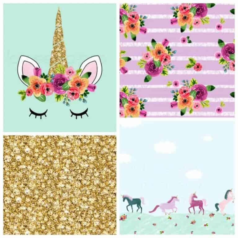 Fave Fabric Friday: Unicorns, flowers and glitter!