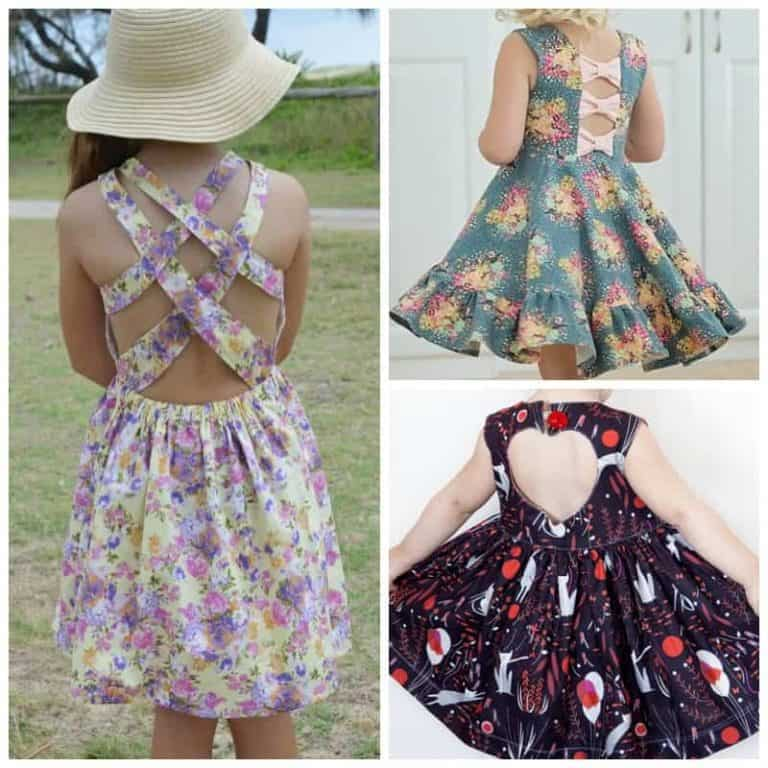 Party in the Back: girl's dress sewing patterns with fun back details
