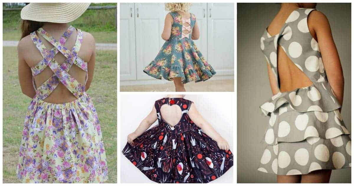 Ideas for girls dress sewing patterns (pdf) that have fun details on the back. Gorgeous dresses for special occasions to easy dresses for everyday wear.