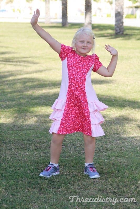 Ellie and Mac Girl's With Love dress sewing pattern review