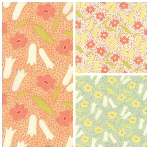Buttercups fabric from the Ella & Ollie collection from Moda