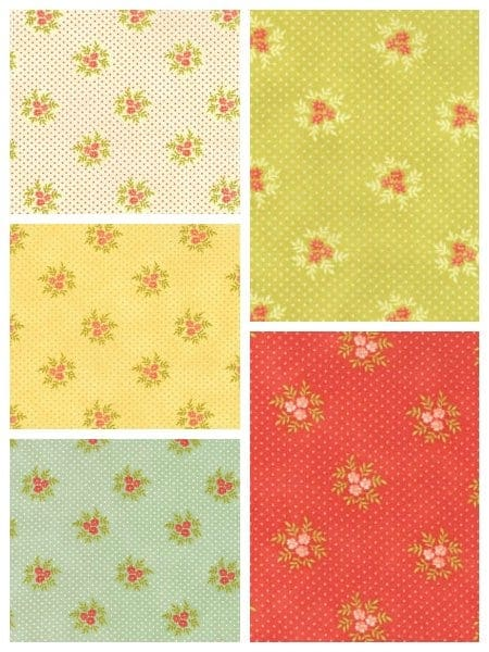 Posies fabric from the Ella & Ollie collection from Moda