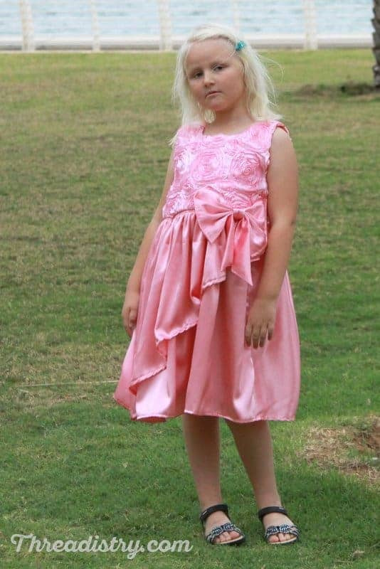 Poinsettia Party Dress sewing pattern review
