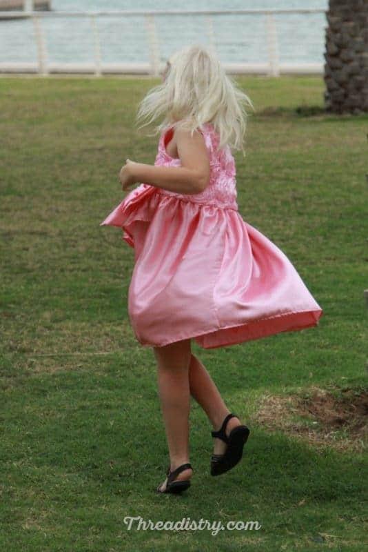 Poinsettia Party Dress has a good twirl factor!