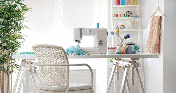 Service your sewing machine as part of spring cleaning your sewing room