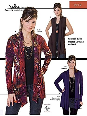 Pleated Cardigan and Vest sewing pattern from Jalie