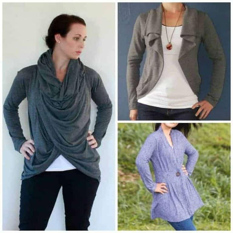 Easy Cardigan Sewing Patterns for women to take off the chill