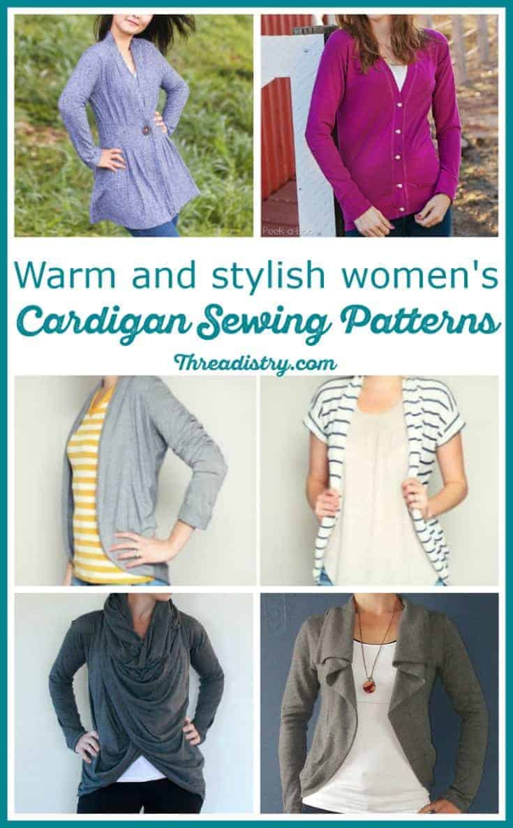 Easy cardigan sewing patterns for women - all the favourite styles, including long, waterfall, cocoon, oversized and fitted. Perfect DIY for all year round, from summer to winter.