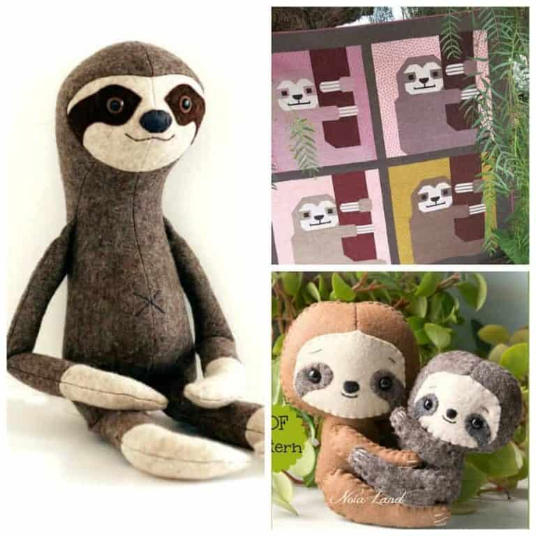 Who can resist these sweet Sloth Sewing Patterns?