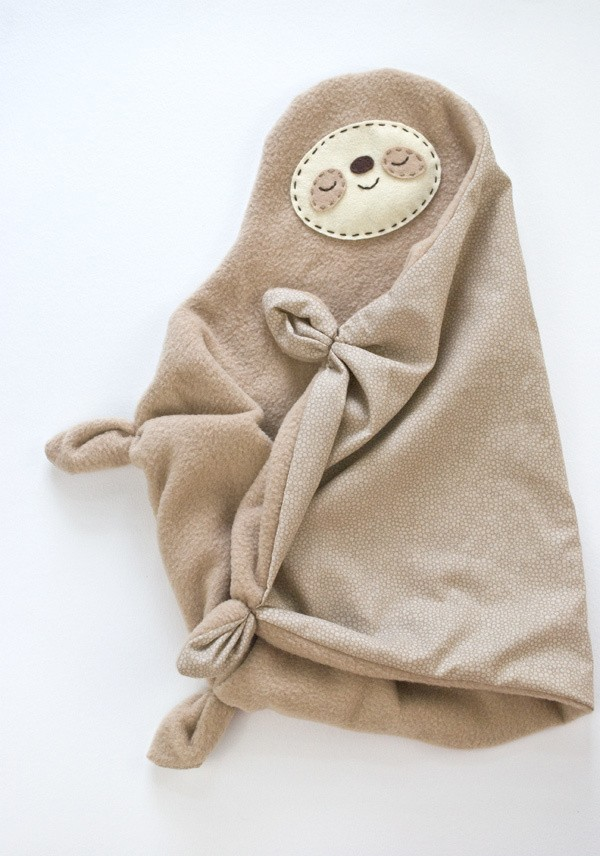 Sleepy sloth snuggler is a sweet free sloth sewing pattern from Hello Bee