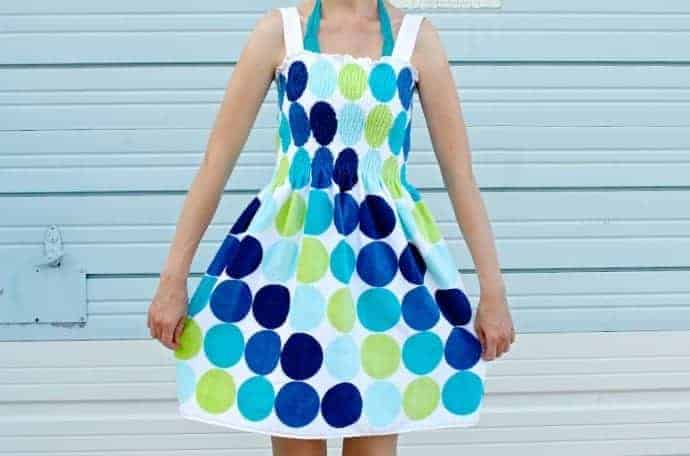 Beach Towel dress sewing tutorial from Made Everyday