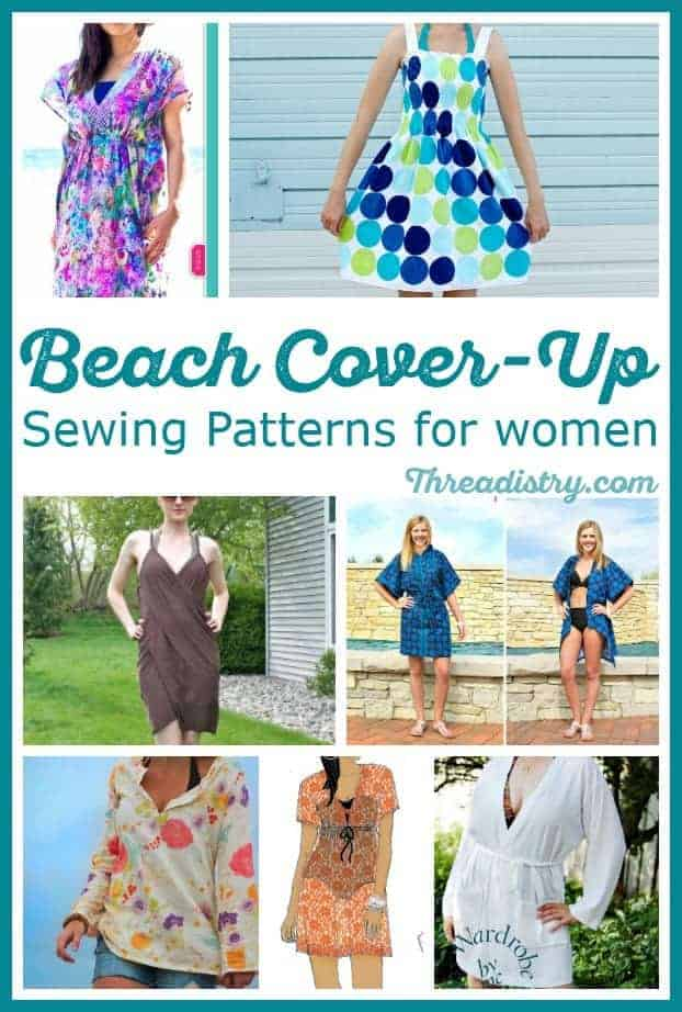 Throw on an easy DIY swimsuit cover up when you head to the beach or pool. Here's a lovely collection of beach cover up sewing patterns for women, including kaftans and kimonos, with free tutorials included. Love the fabric suggestions too!