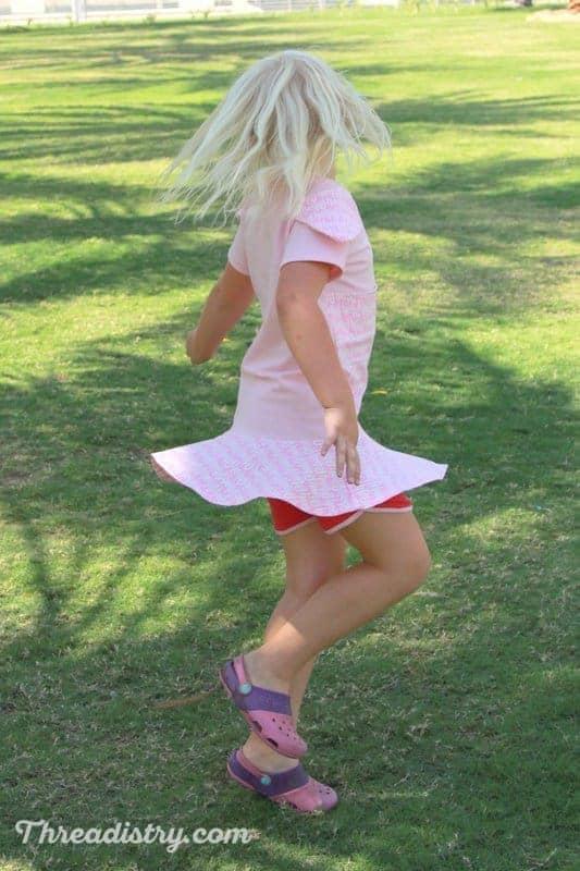 Twirl peplum top sewing pattern for girls