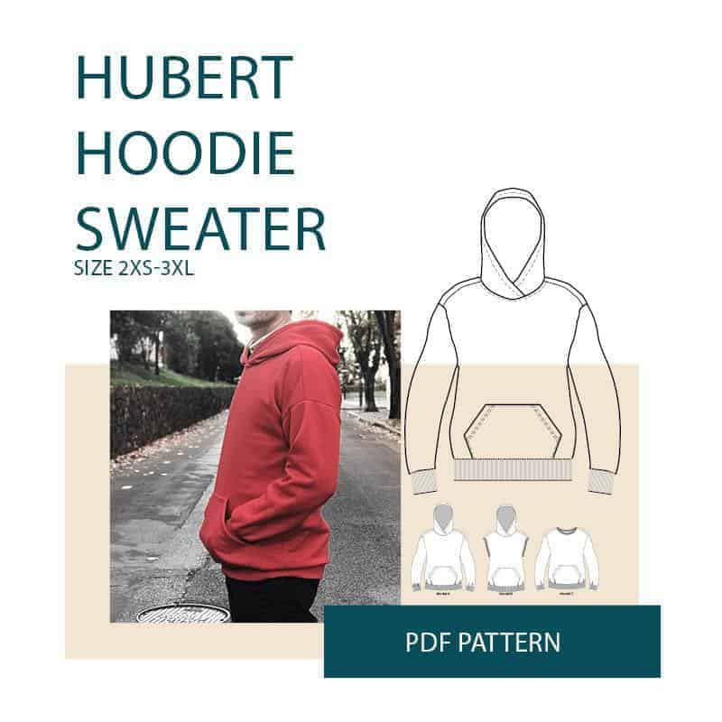 Hubert Men's Hoodie pdf sewing pattern from Wardrobe By Me