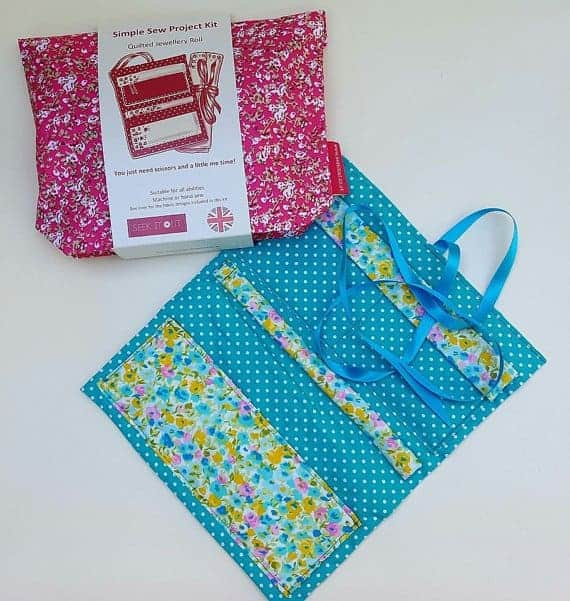 Jewelry roll sewing craft kit on Etsy