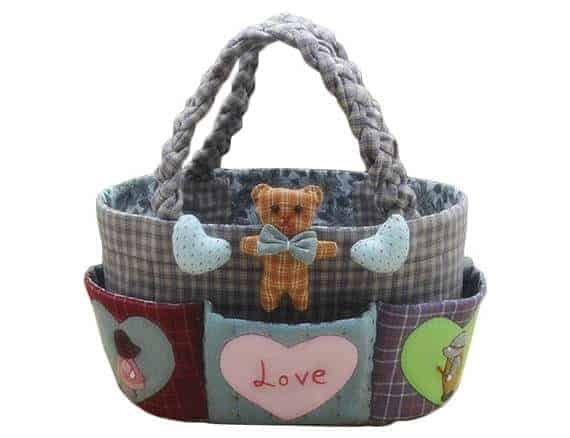Storage basket sewing kit - great gift for sewists