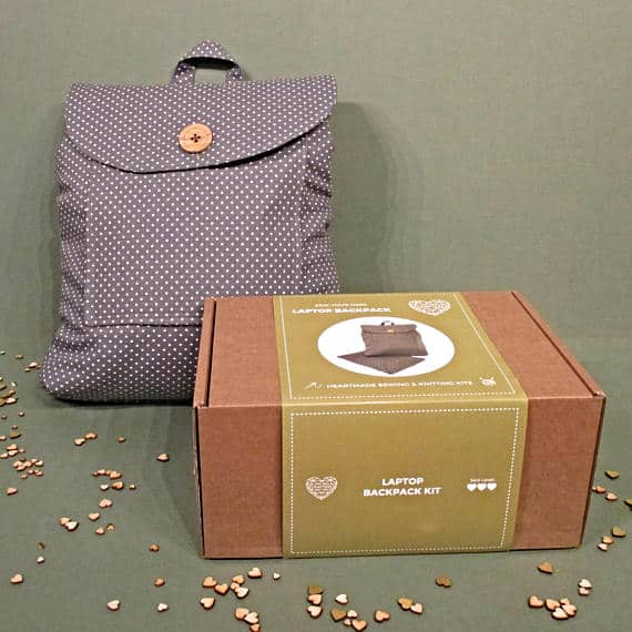 Laptop backpack sewing kit