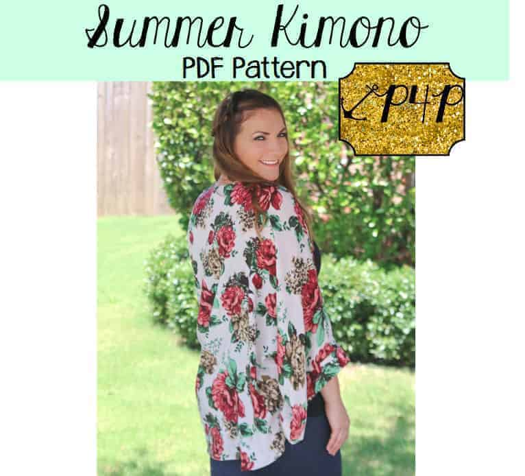 Summer Kimono sewing pattern from Patterns for Pirates