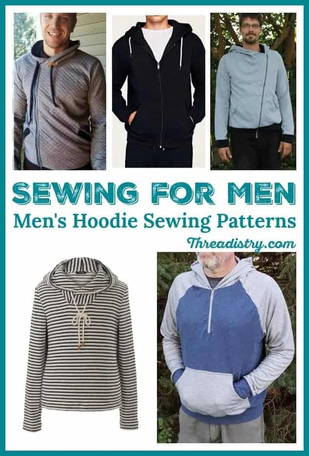 From zip-ups to pullovers or T-shirt-style, there are some great pdf hoodie sewing patterns for men to download, perfect for throwing on when the temperature drops in the evening or layer to stay warm on a winter's day. Make a hoodie for the man in your life with the best men's hoodie sewing patterns, including free and paid options.