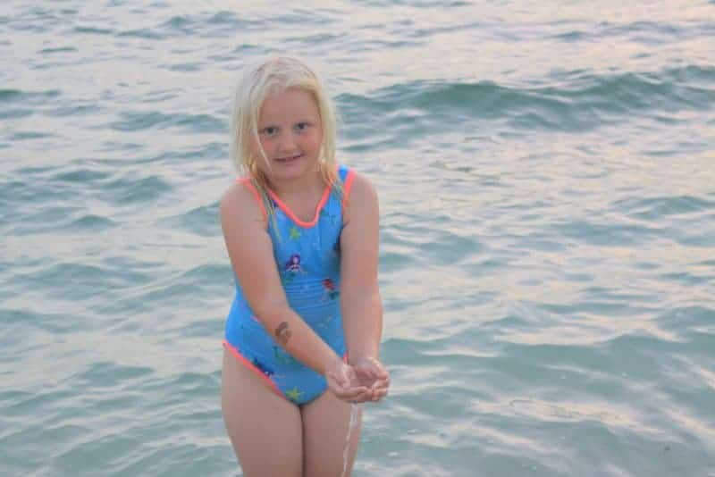 Cute swimsuit sewing pattern for girls