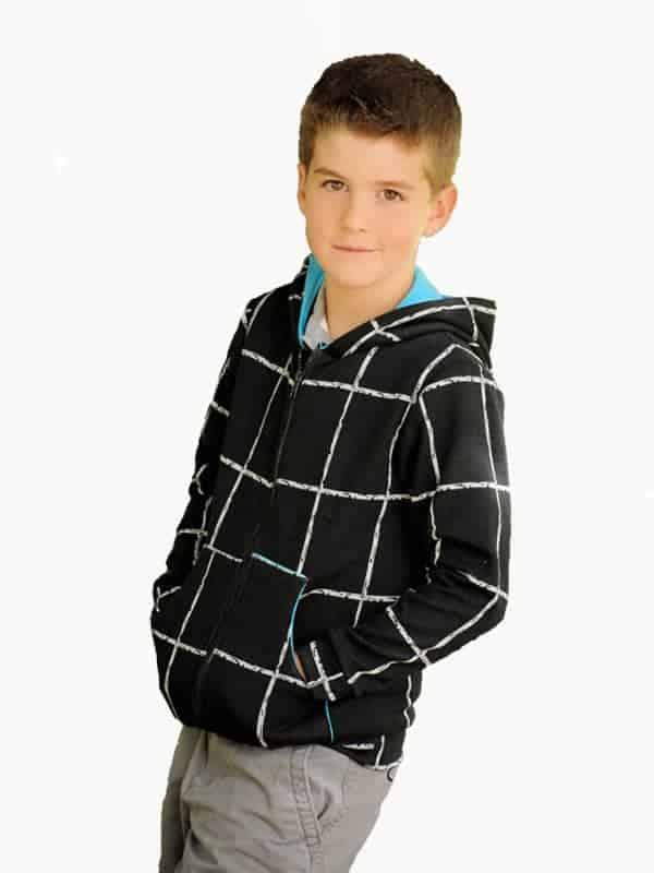 Hatteras Kids, Tween and Teen Hoodie sewing pattern from Hey June