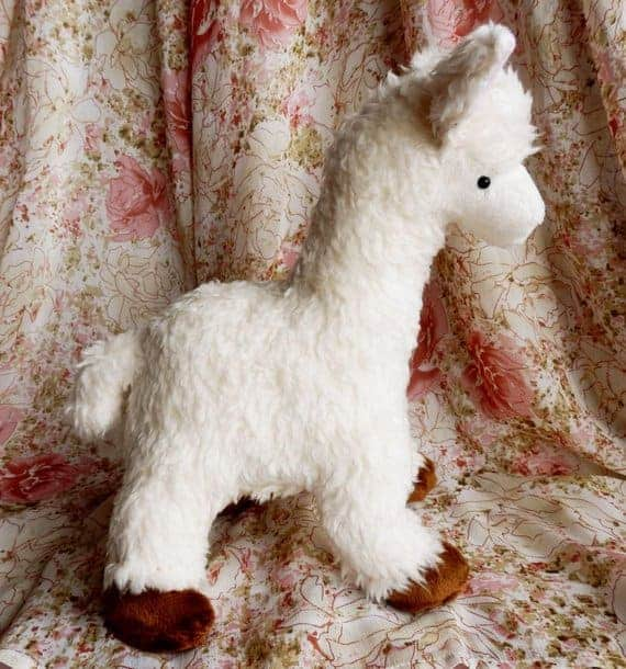Cute Llama or alpaca sewing pattern from Pixie Plushies