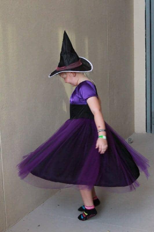 Twirly dress witch's costume