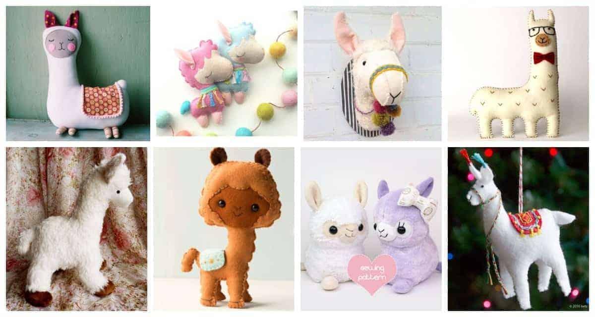 Llama sewing patterns, plush, felt, stuffed animal ideas and inspiration.