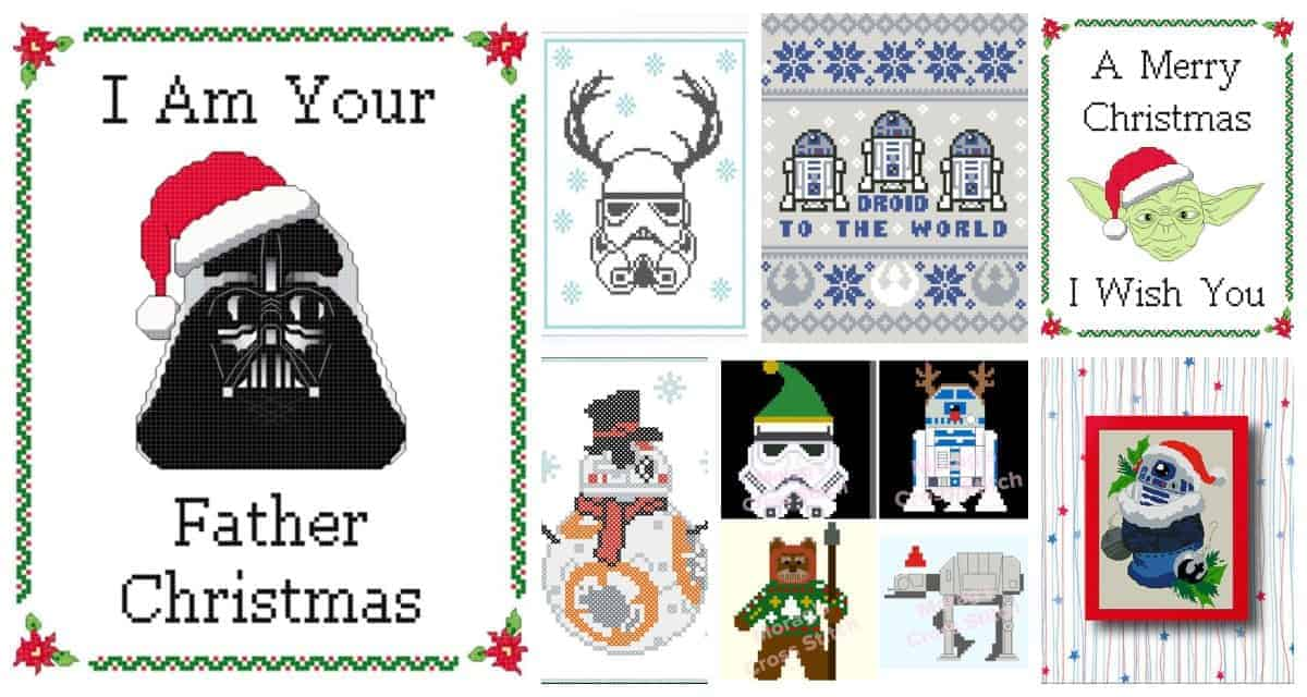 Cross-stitch some Star Wars Christmas decorations with this fun (and funny!) collection of patterns, including Yoda, Darth Vader, Storm Troopers and more.