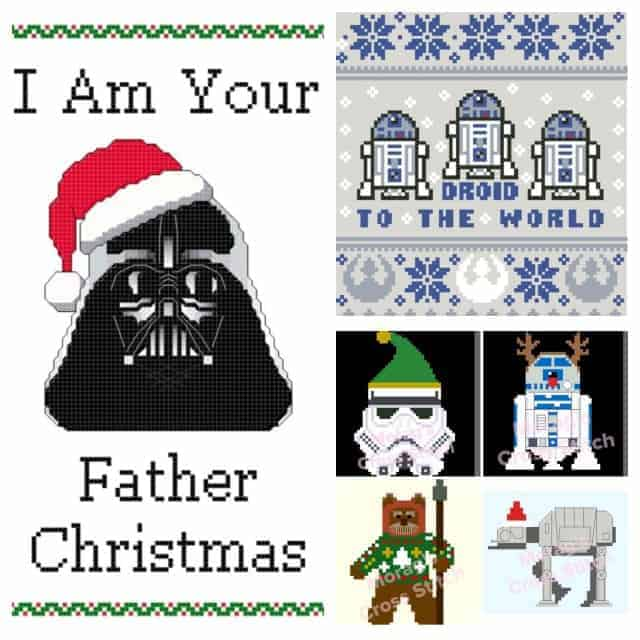 Dark Side or Rebellion? The best Star Wars Christmas Cross-Stitch patterns