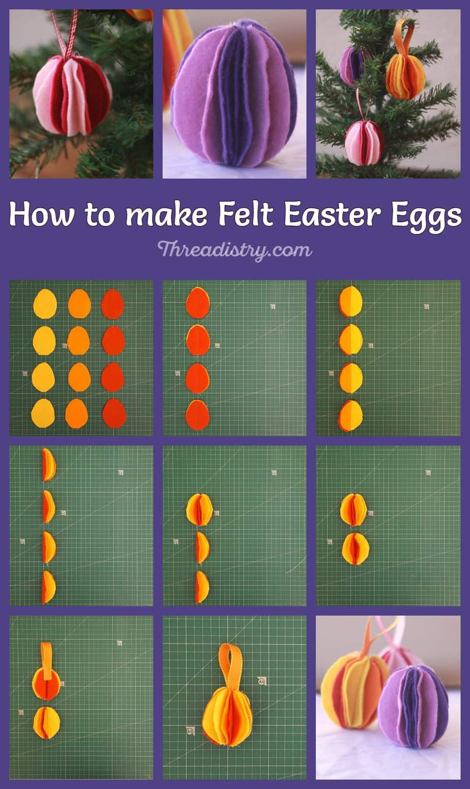 How to make felt Easter eggs. Click through for this fun and cute sewing tutorial for Easter decorating.