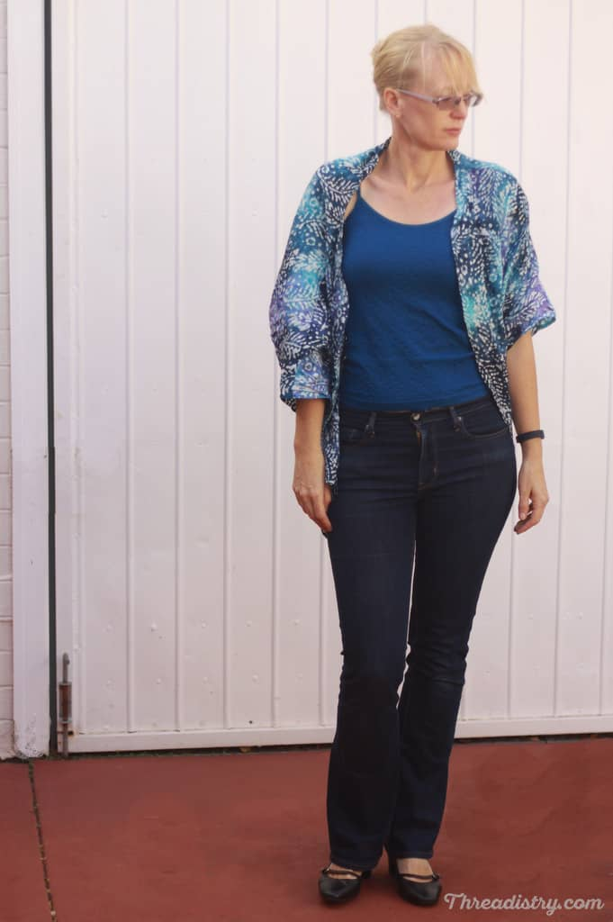 Love the Weekendje Kimono from The Eli Monster for dressing up a casual outfit!