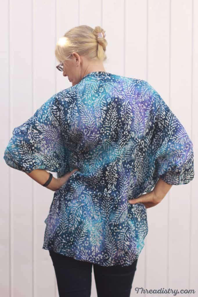 Simple kimono jacket sewing pattern