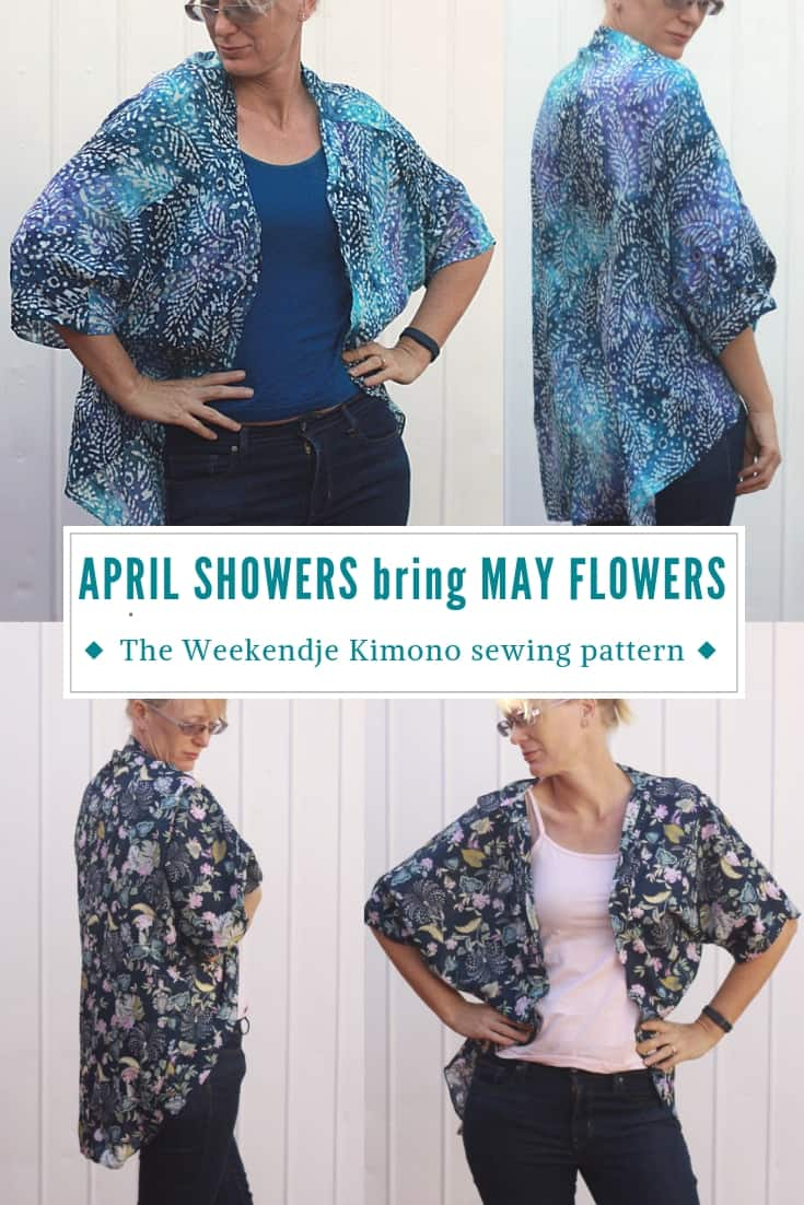 The Weekendje Kimono sewing pattern from The Eli Monster is a fun top to throw over a tank or T-shirt to make a plain outfit that bit more stylish! #sewing #pdfsewingpattern