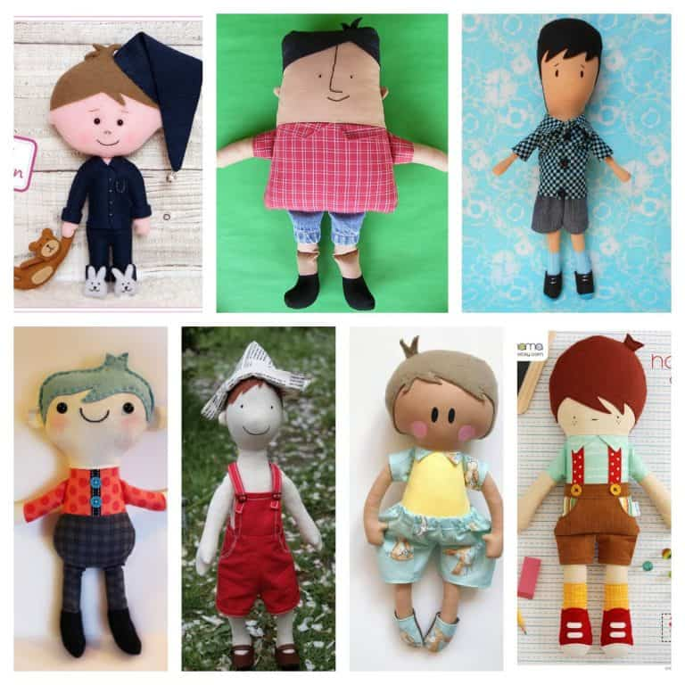 Adorable Boy Doll Sewing Patterns