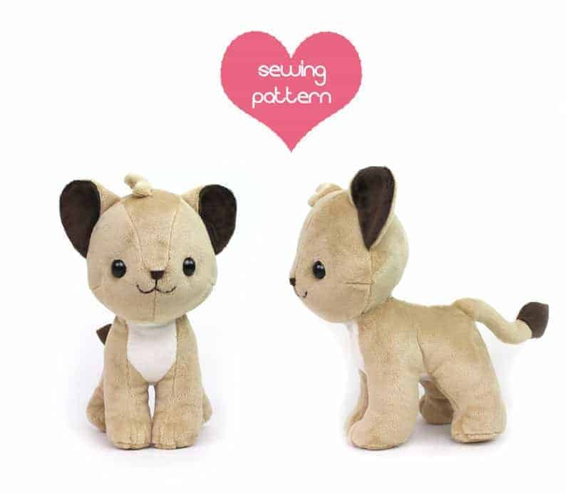 Lion cub sewing pattern from Teacup Lion