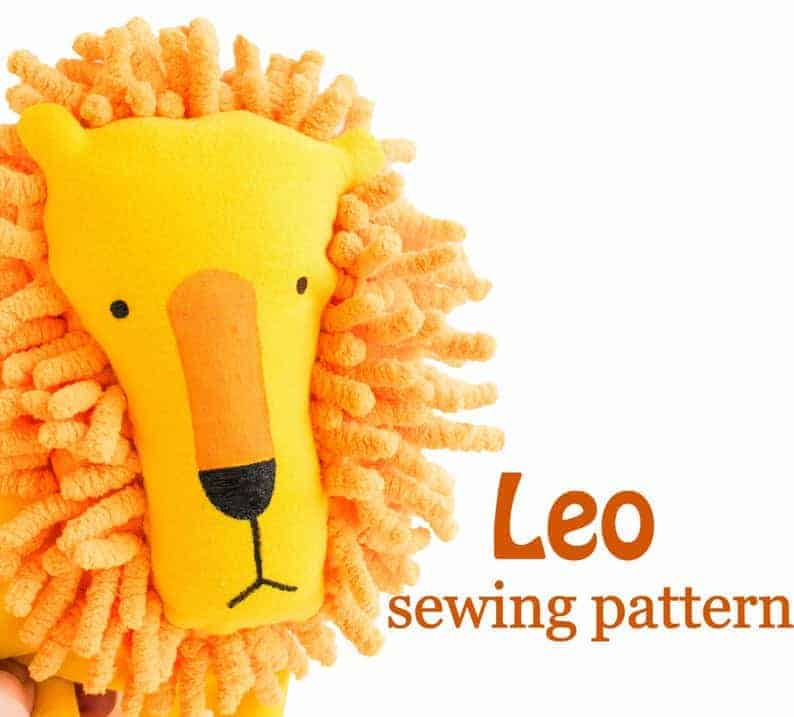 Leo lion sewing pattern from Ustinka Design