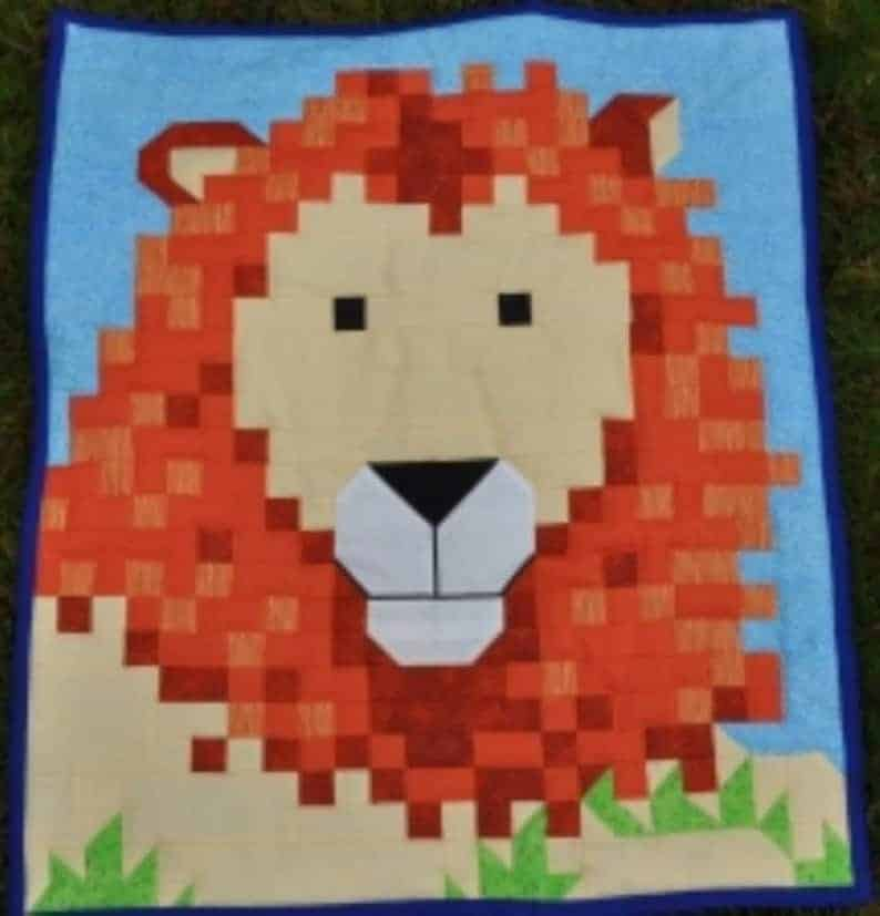 Lion Quilt Pattern by Counted Quilts