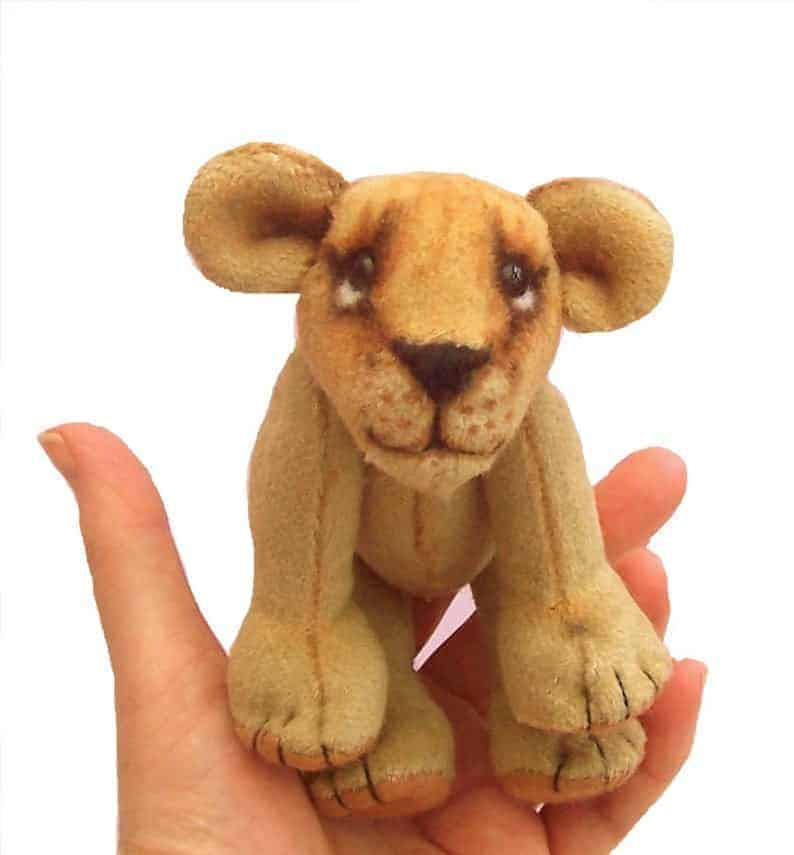 Lion cub sewing pattern from PC Bangles