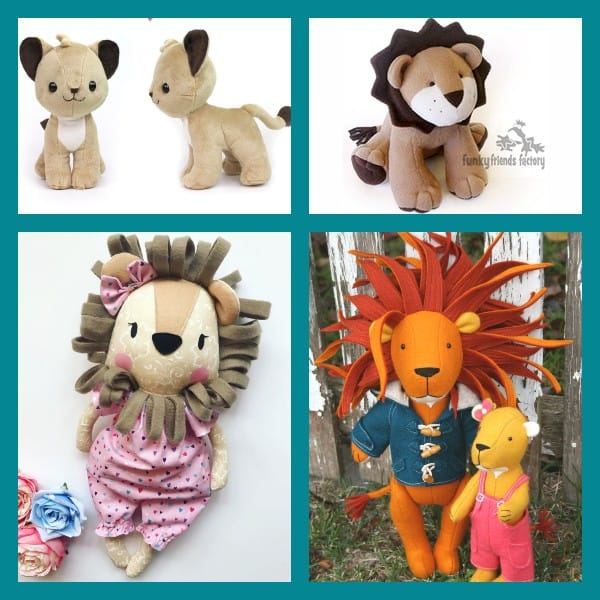 From realistic to super-cute: the best lion sewing patterns