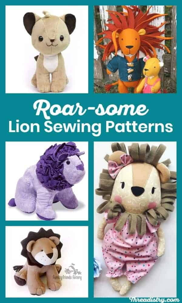 Whether you want to sew your own Simba, Nala, Mufasa or Scar, here are the best lion sewing patterns. Make your own Lion King inspired softie or doll.