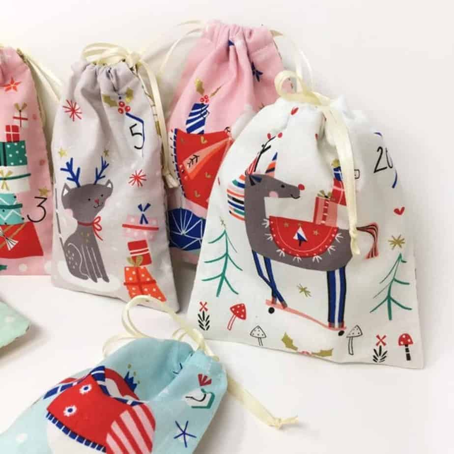 Advent calendar bags sewing kit