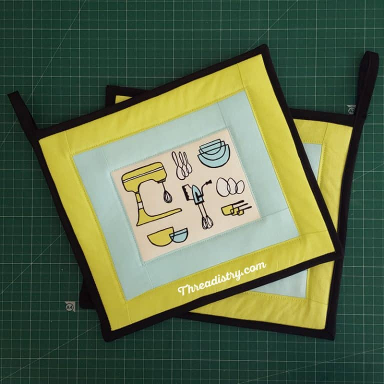 How to sew a pot holder: sewing for beginners
