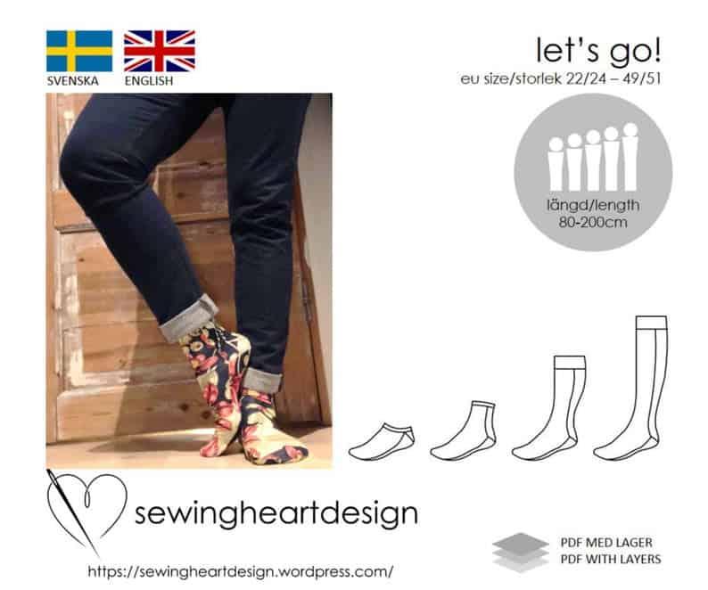 Let's go! socks sewing pattern